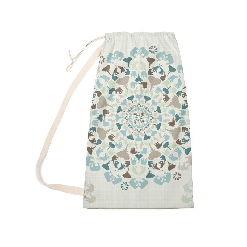Mandala of Elephants 01. Accessories Bag by BrocoliArtprint