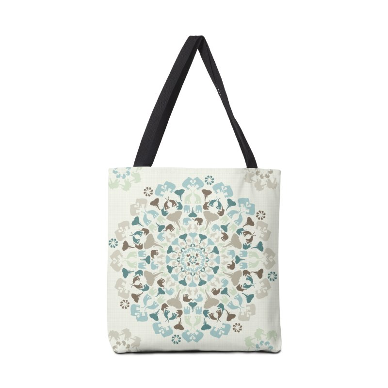Mandala of Elephants 01. Accessories Bag by BrocoliArtprint