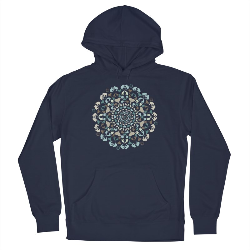 Mandala of Elephants 01. Men's Pullover Hoody by BrocoliArtprint