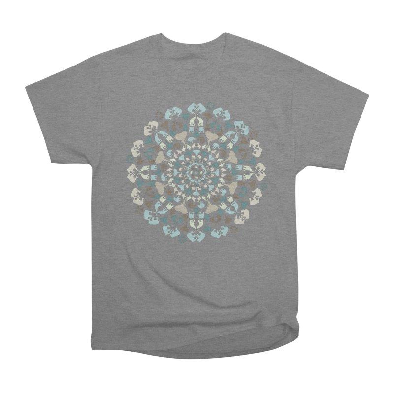 Mandala of Elephants 01. Men's T-Shirt by BrocoliArtprint