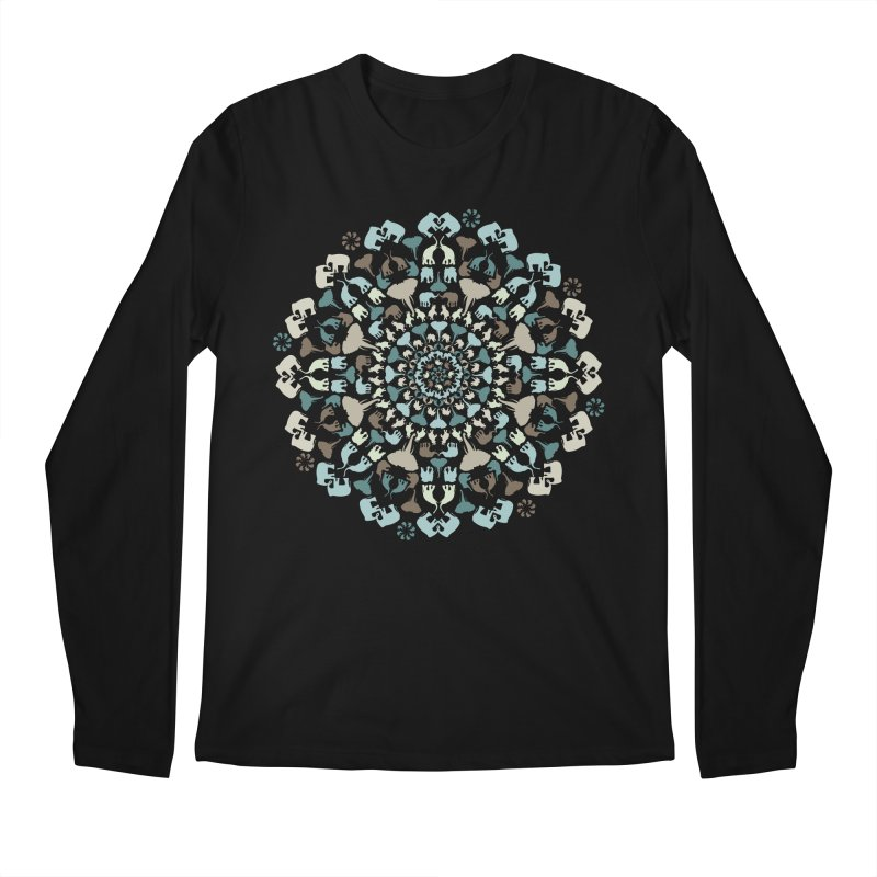 Mandala of Elephants 01. Men's Longsleeve T-Shirt by BrocoliArtprint