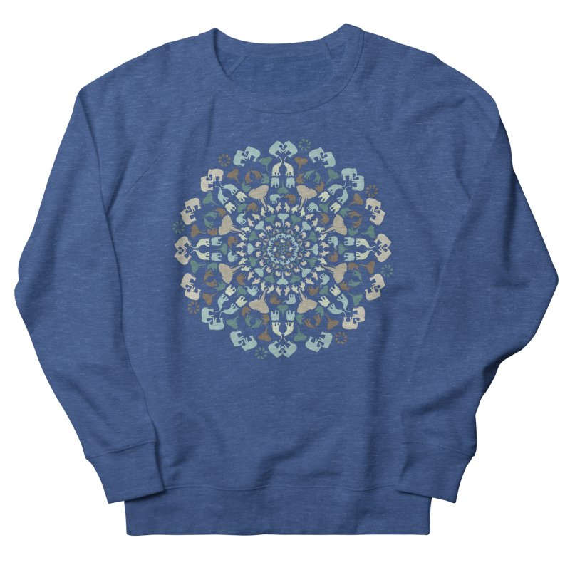 Mandala of Elephants 01. Men's Sweatshirt by BrocoliArtprint