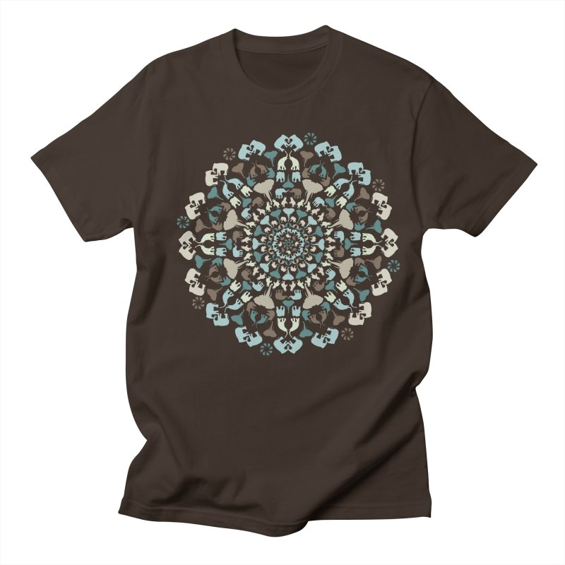 Mandala of Elephants 01. Men's T-Shirt by BrocoliArtprint