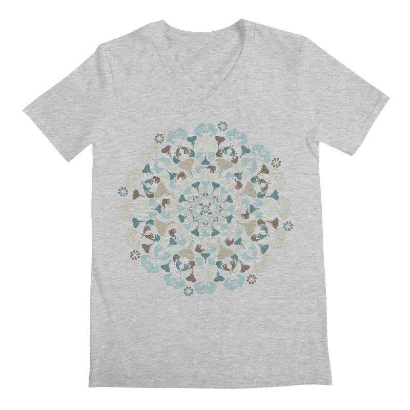 Mandala of Elephants 01. Men's V-Neck by BrocoliArtprint