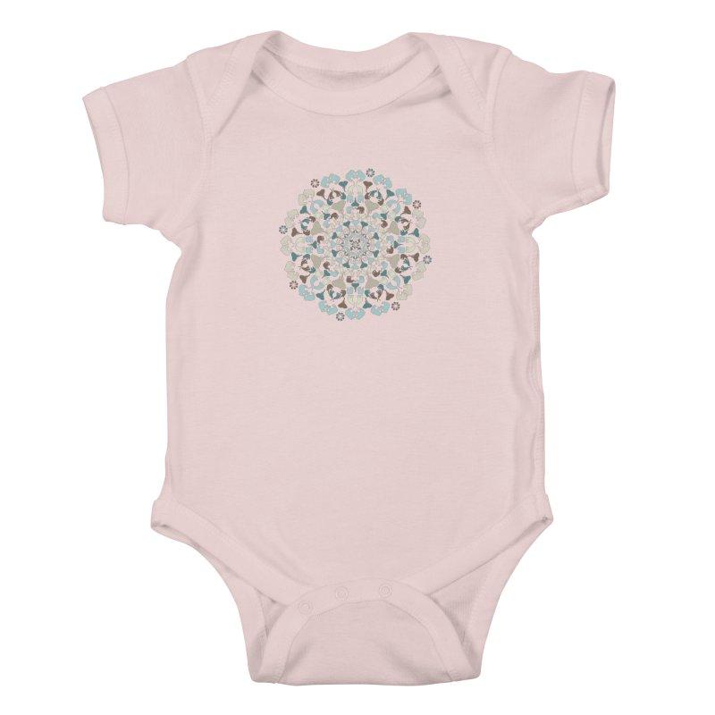 Mandala of Elephants 01. Kids Baby Bodysuit by BrocoliArtprint