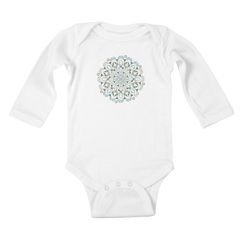 Mandala of Elephants 01. Kids Baby Longsleeve Bodysuit by BrocoliArtprint