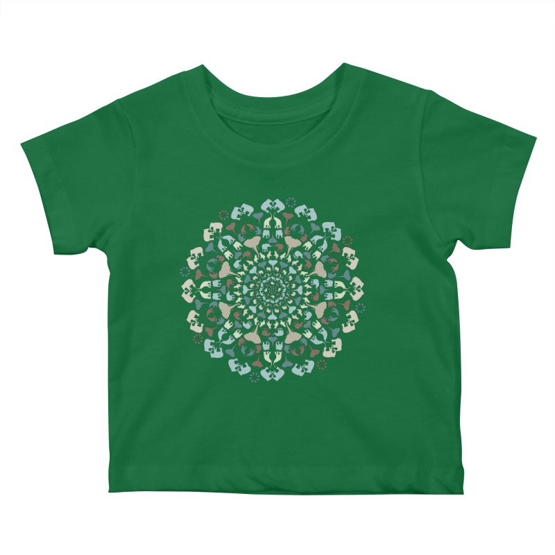 Mandala of Elephants 01. Kids Baby T-Shirt by BrocoliArtprint
