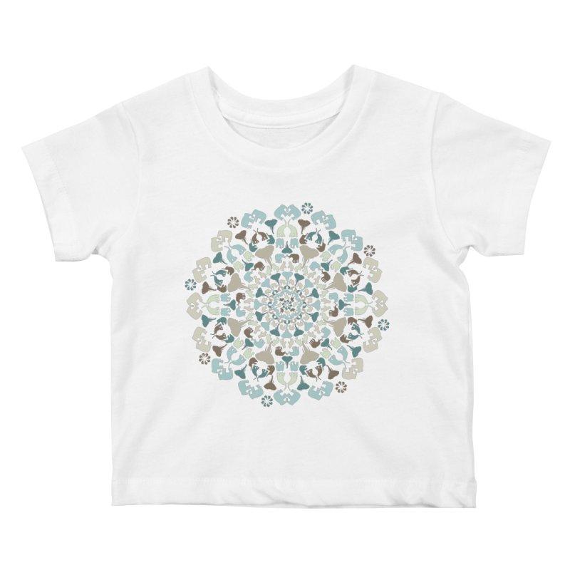 Mandala of Elephants 01. Kids Baby T-Shirt by BrocoliArtprint