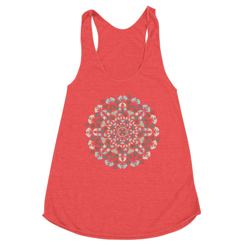 Mandala of Elephants 01. Women's Tank by BrocoliArtprint