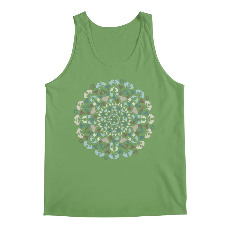 Mandala of Elephants 01. Men's Tank by BrocoliArtprint