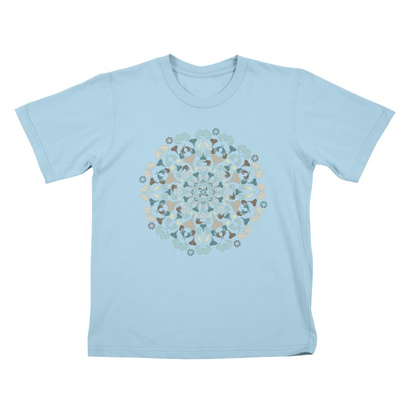 Mandala of Elephants 01. Kids T-Shirt by BrocoliArtprint