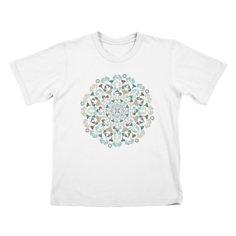 Mandala of Elephants 01. Kids T-Shirt by BrocoliArtprint
