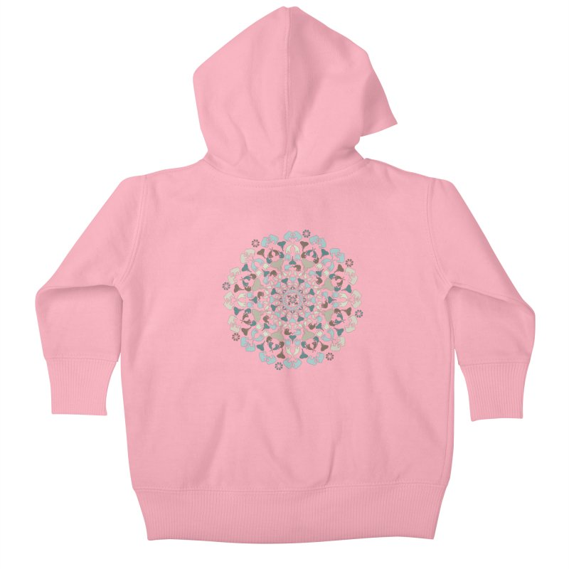 Mandala of Elephants 01. Kids Baby Zip-Up Hoody by BrocoliArtprint
