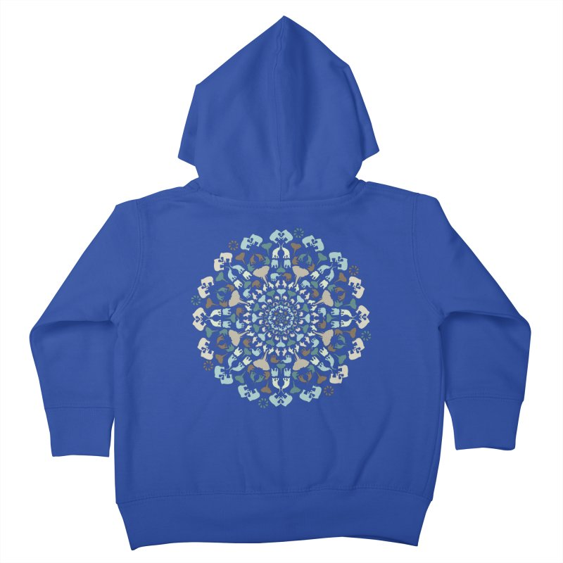 Mandala of Elephants 01. Kids Toddler Zip-Up Hoody by BrocoliArtprint