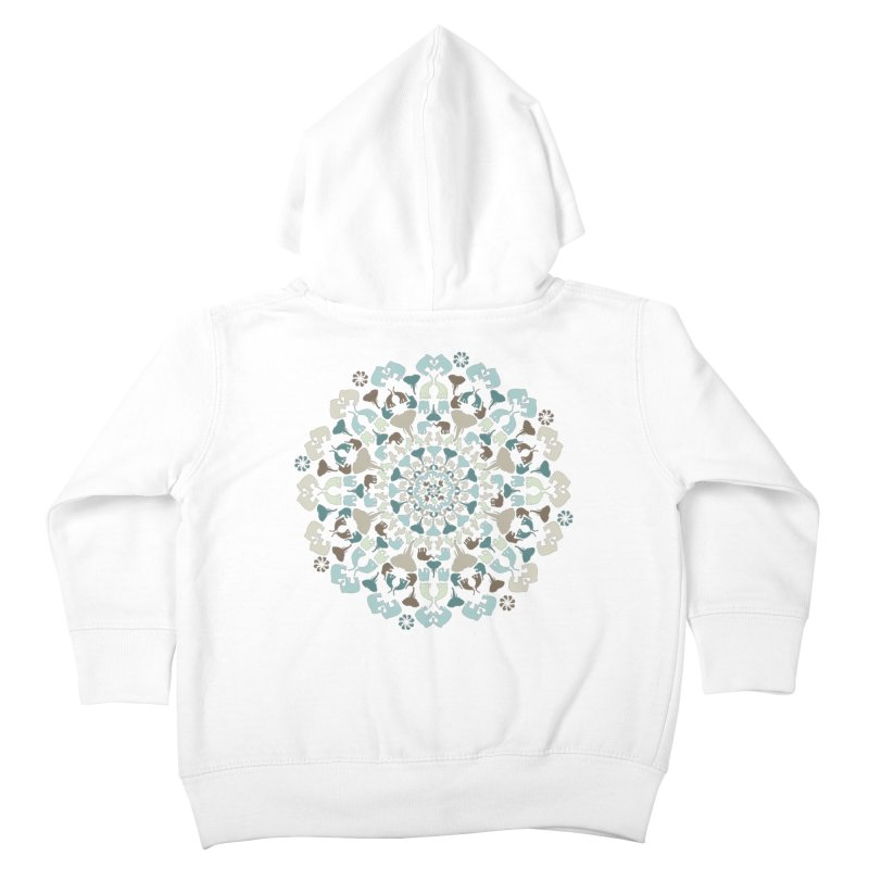 Mandala of Elephants 01. Kids Toddler Zip-Up Hoody by BrocoliArtprint