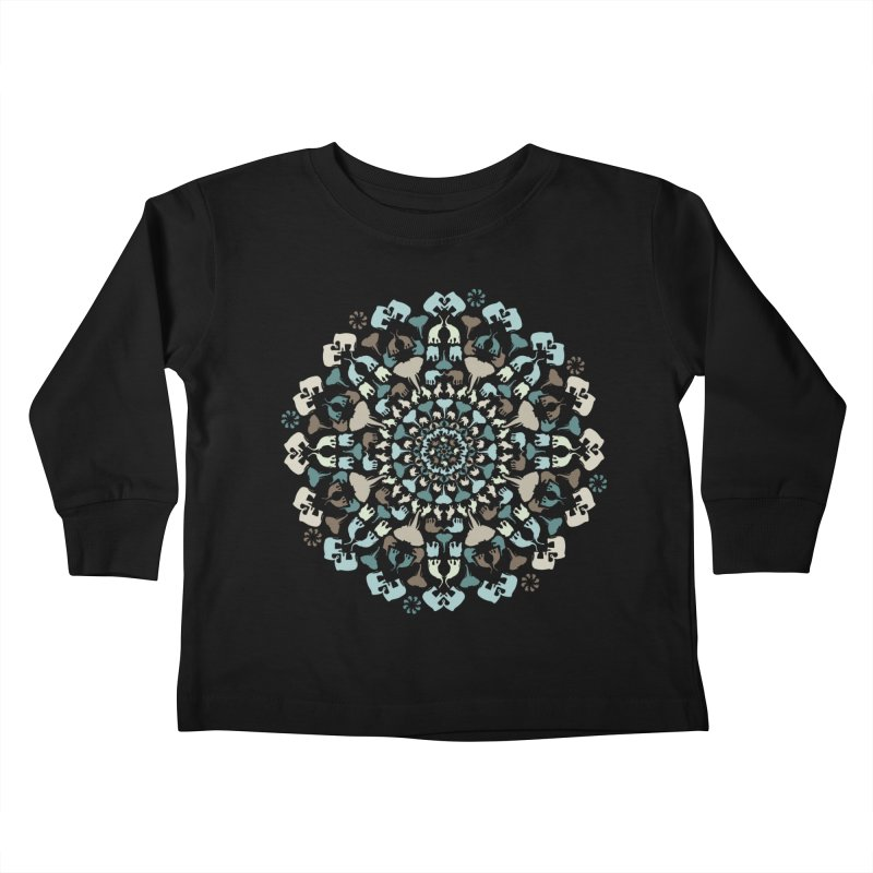 Mandala of Elephants 01. Kids Toddler Longsleeve T-Shirt by BrocoliArtprint