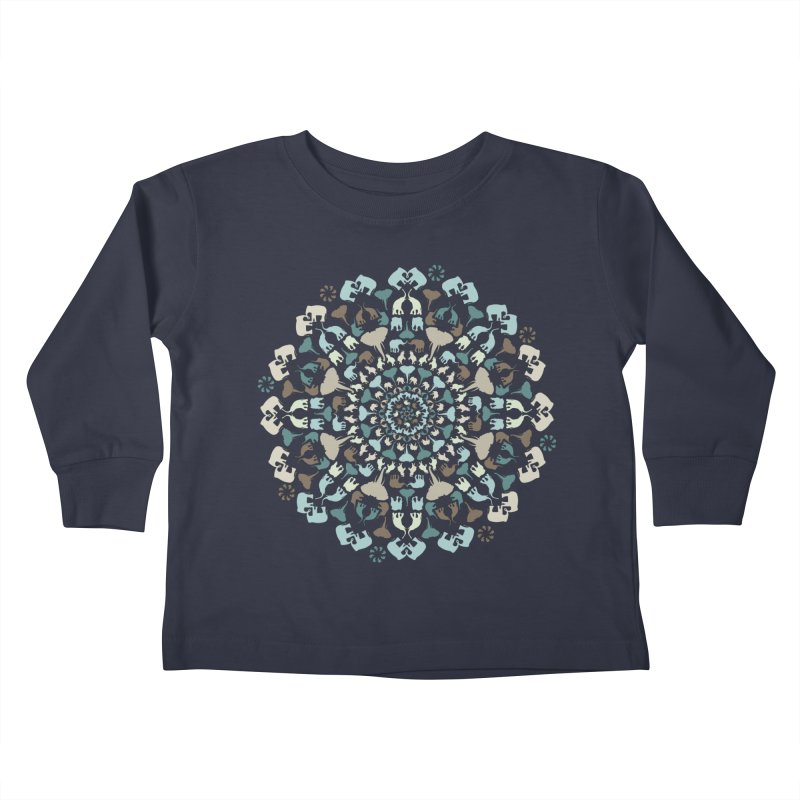 Mandala of Elephants 01. Kids Toddler Longsleeve T-Shirt by BrocoliArtprint