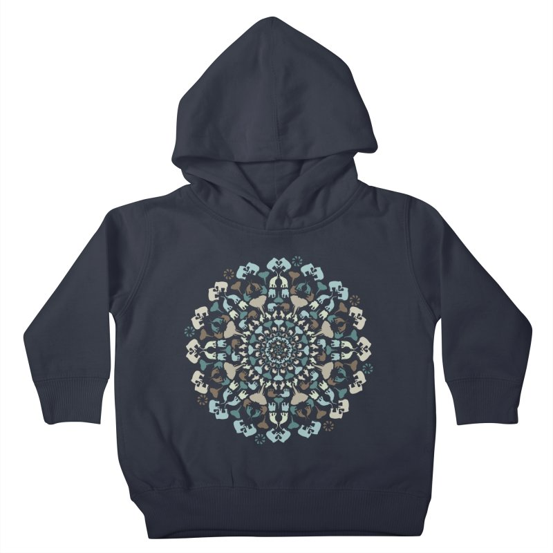 Mandala of Elephants 01. Kids Toddler Pullover Hoody by BrocoliArtprint