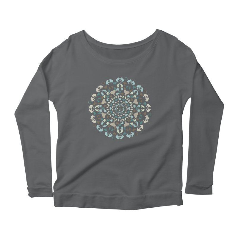 Mandala of Elephants 01. Women's Longsleeve T-Shirt by BrocoliArtprint