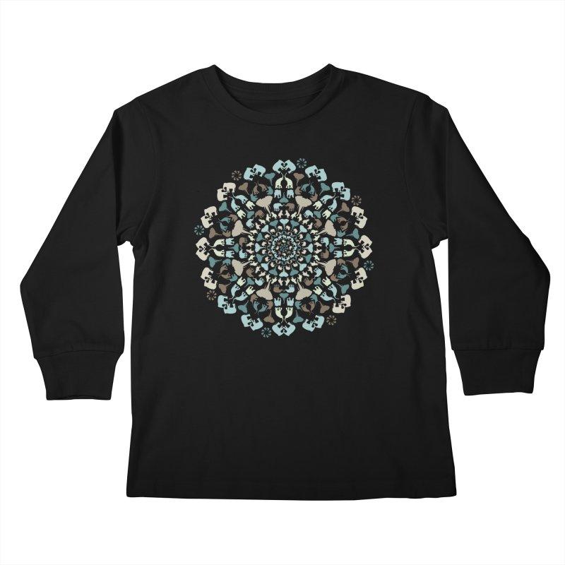 Mandala of Elephants 01. Kids Longsleeve T-Shirt by BrocoliArtprint