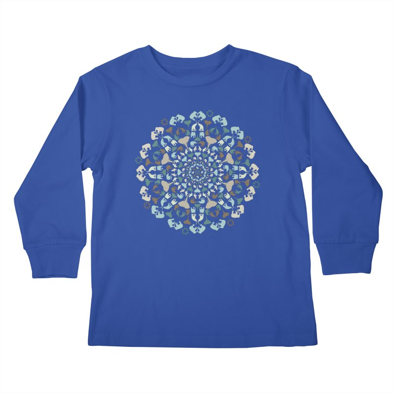 Mandala of Elephants 01. Kids Longsleeve T-Shirt by BrocoliArtprint