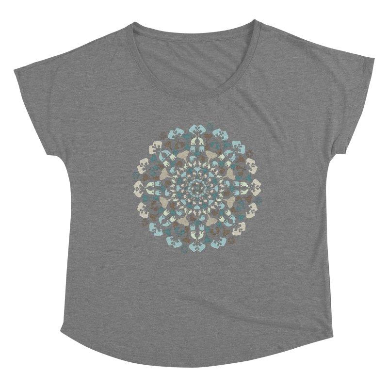 Mandala of Elephants 01. Women's Scoop Neck by BrocoliArtprint