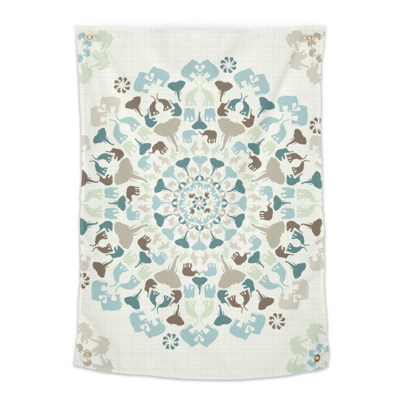 Mandala of Elephants 01. Home Tapestry by BrocoliArtprint