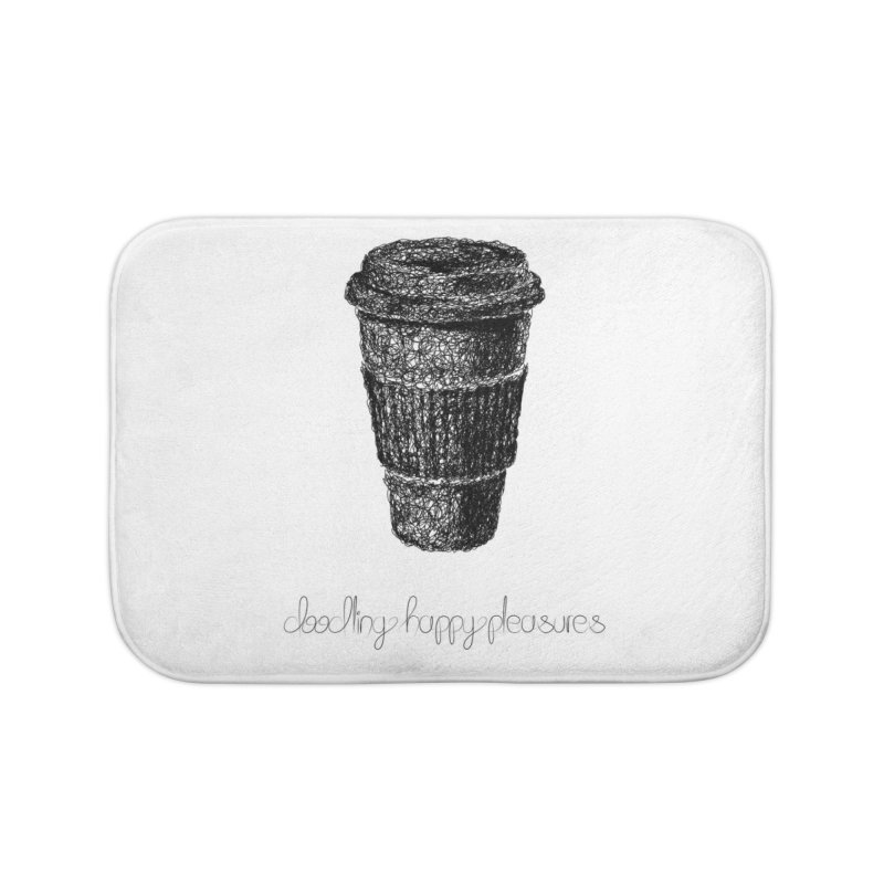 Coffee Doodle Home Bath Mat by BrocoliArtprint