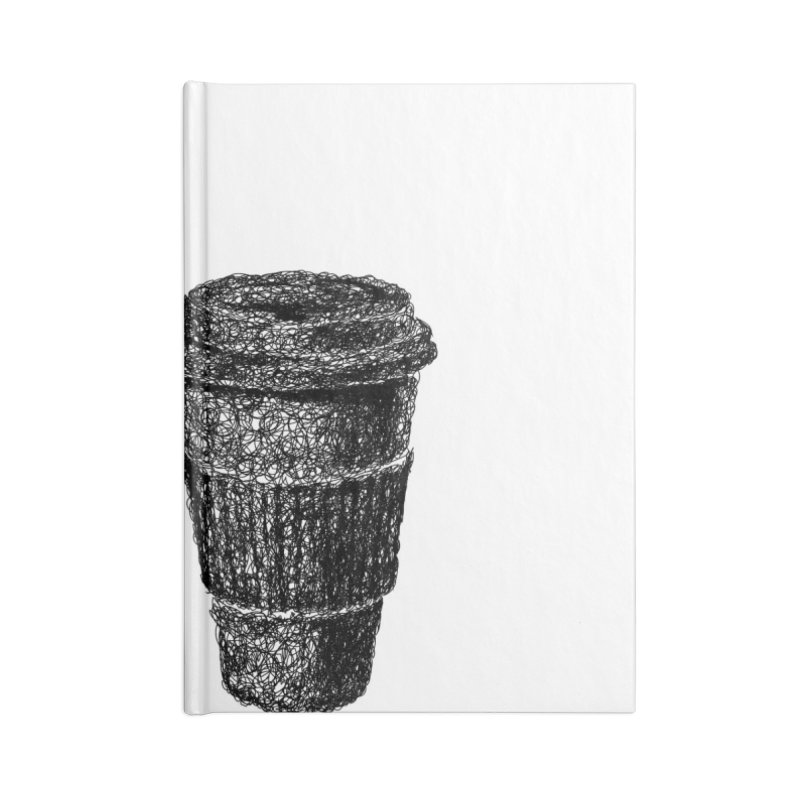 Coffee Doodle Accessories Notebook by BrocoliArtprint