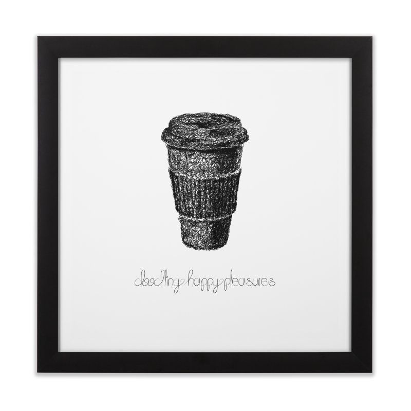 Coffee Doodle Home Framed Fine Art Print by BrocoliArtprint