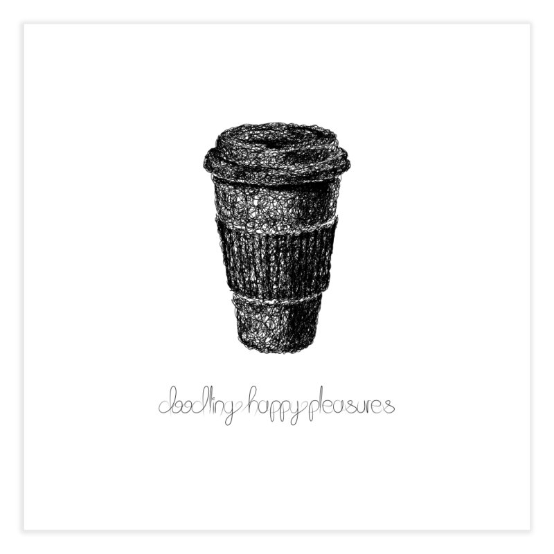 Coffee Doodle Home Fine Art Print by BrocoliArtprint
