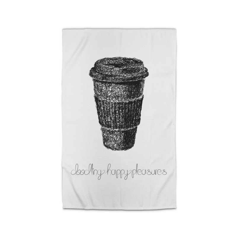 Coffee Doodle Home Rug by BrocoliArtprint