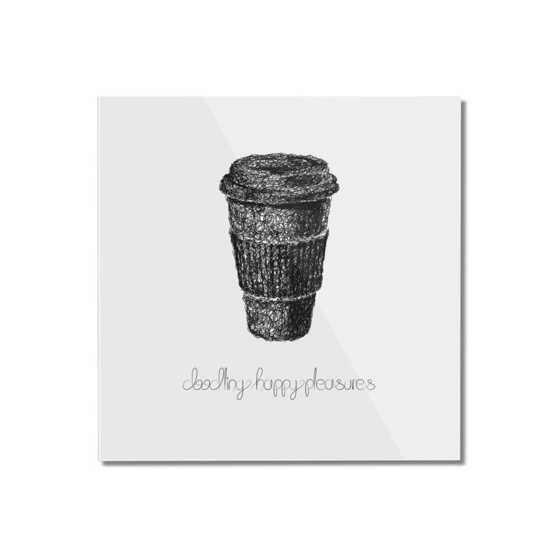 Coffee Doodle Home Mounted Acrylic Print by BrocoliArtprint