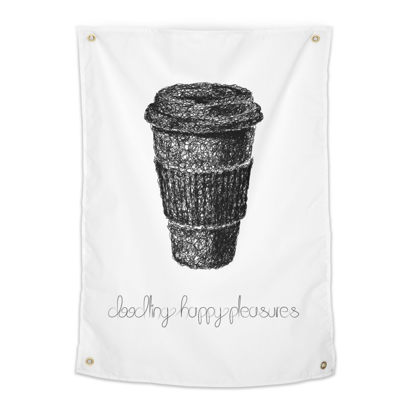 Coffee Doodle Home Tapestry by BrocoliArtprint