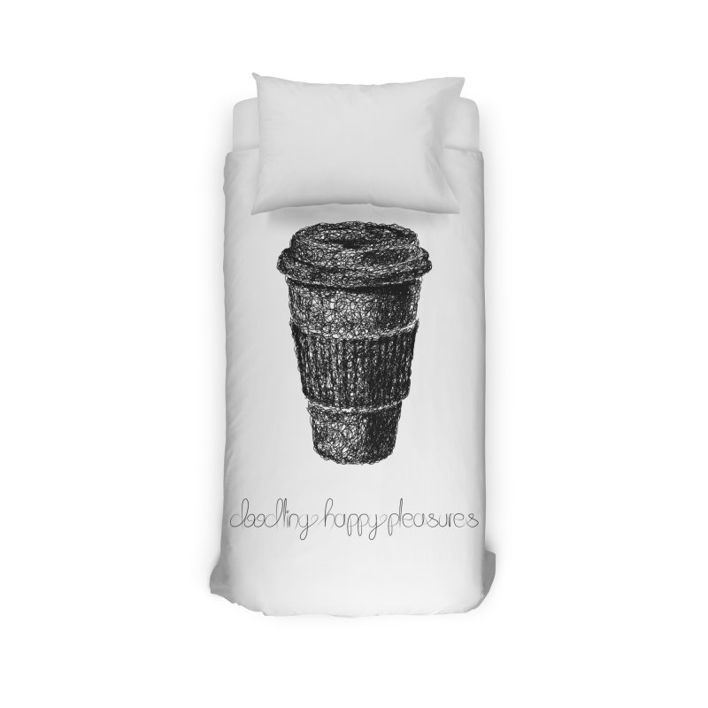 Coffee Doodle Home Duvet by BrocoliArtprint