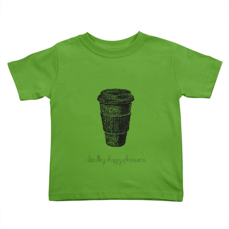Coffee Doodle Kids Toddler T-Shirt by BrocoliArtprint