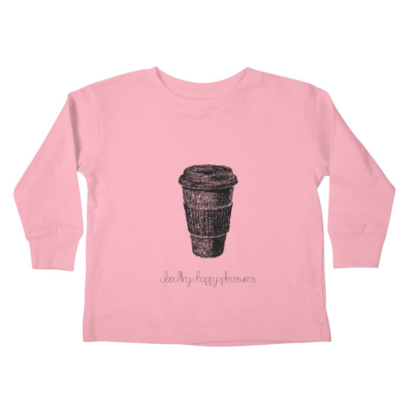 Coffee Doodle Kids Toddler Longsleeve T-Shirt by BrocoliArtprint