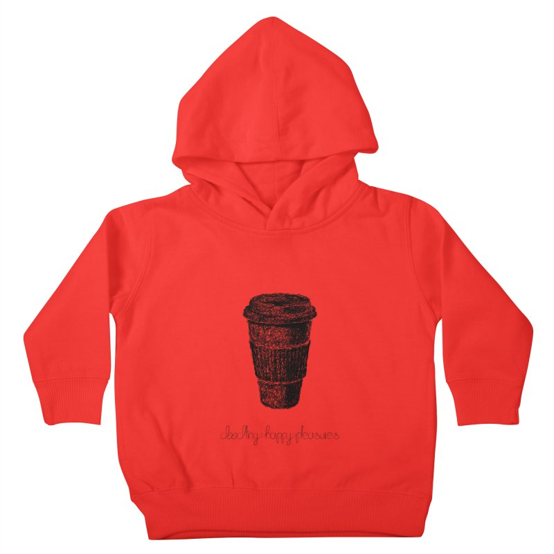 Coffee Doodle Kids Toddler Pullover Hoody by BrocoliArtprint