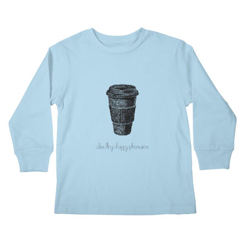 Coffee Doodle Kids Longsleeve T-Shirt by BrocoliArtprint