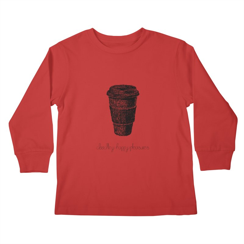 Coffee Doodle Kids Longsleeve T-Shirt by BrocoliArtprint