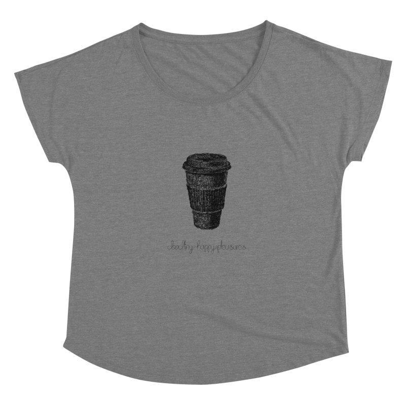Coffee Doodle Women's Scoop Neck by BrocoliArtprint