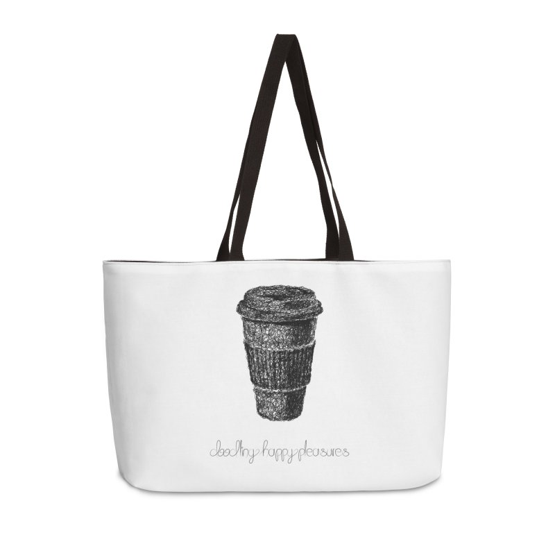 Coffee Doodle Accessories Bag by BrocoliArtprint