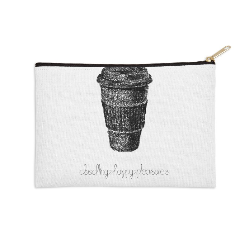 Coffee Doodle Accessories Zip Pouch by BrocoliArtprint