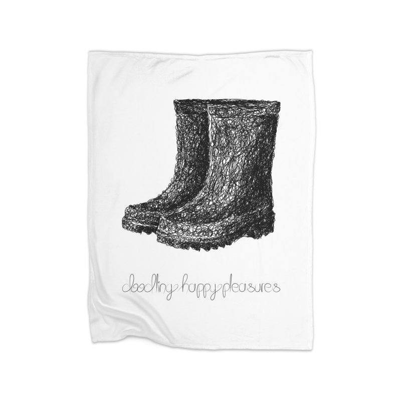 Rainboots Doodle Home Blanket by BrocoliArtprint
