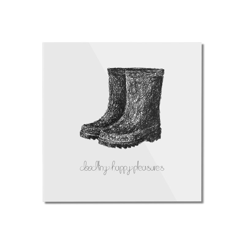 Rainboots Doodle Home Mounted Acrylic Print by BrocoliArtprint