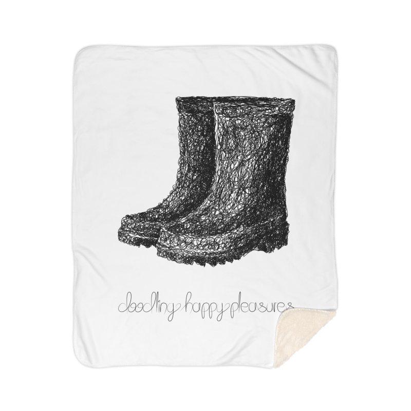 Rainboots Doodle Home Blanket by BrocoliArtprint