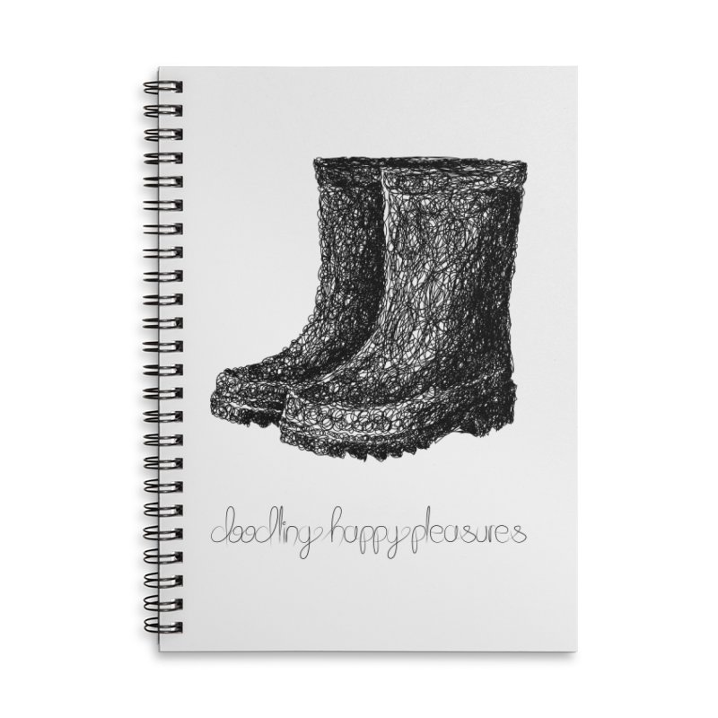 Rainboots Doodle Accessories Notebook by BrocoliArtprint