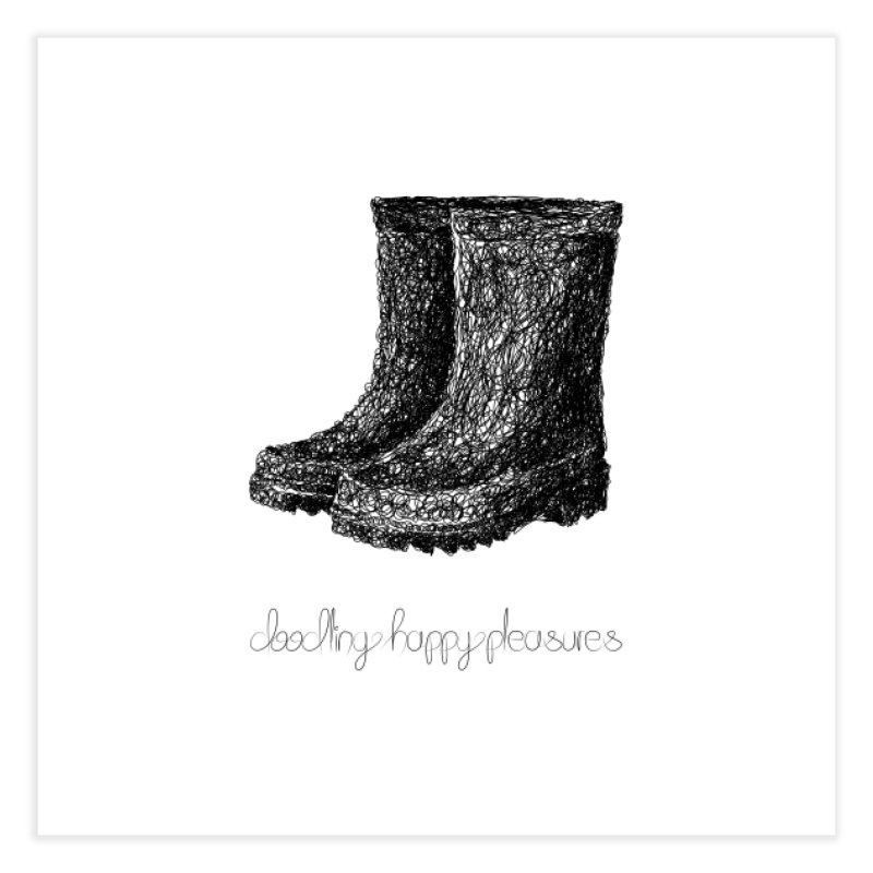 Rainboots Doodle Home Fine Art Print by BrocoliArtprint