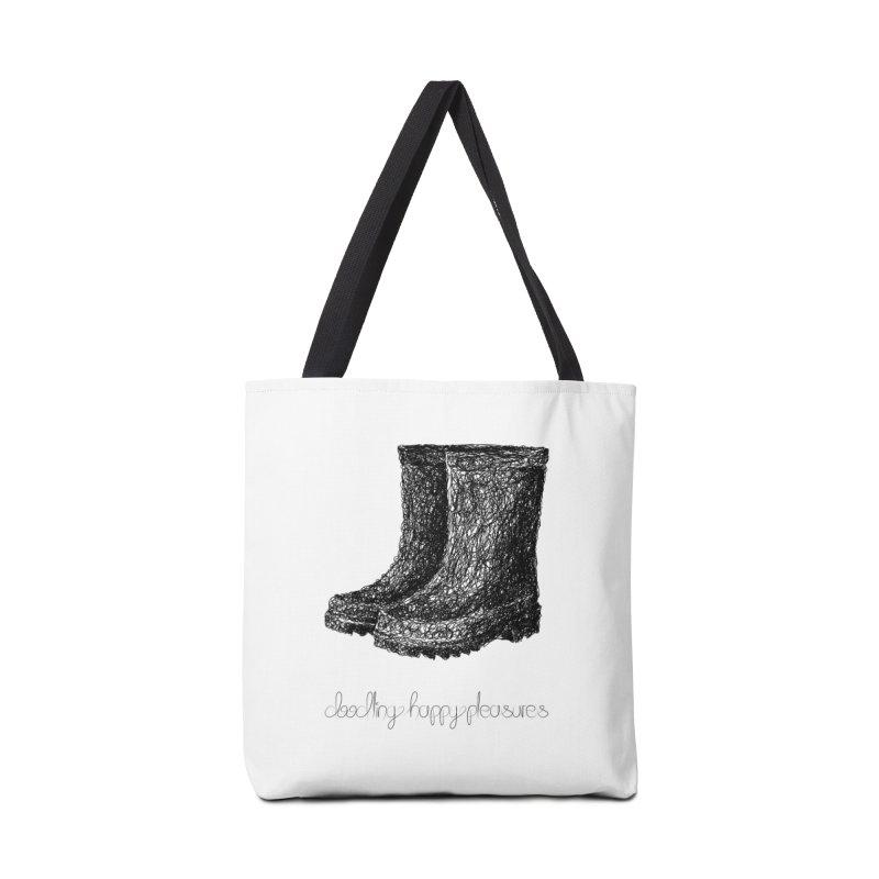 Rainboots Doodle Accessories Bag by BrocoliArtprint