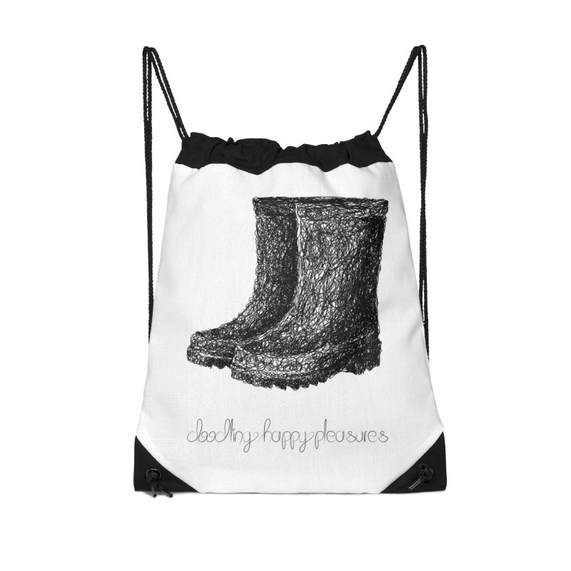 Rainboots Doodle Accessories Bag by BrocoliArtprint
